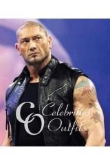 Dave Batista WWE Wrestling Black Leather Jacket Vest