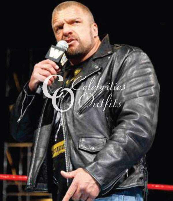 wwe-triple-h-black-motorcycle-jacket
