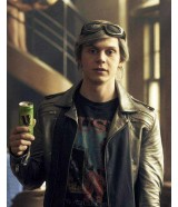 Quicksilver Evan Peters X-Men Apocalypse Leather Jacket