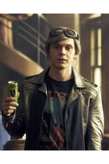 Quicksilver Evan Peters X-Men Apocalypse Leather Jacket