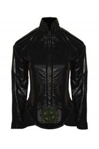 Anna Paquin X-Men Rogue Black Jumpsuit Leather Jacket